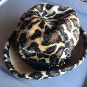 YSL Vintage Cheetah Fedora Hat 🎩